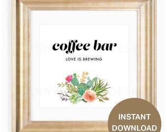 Coffee Bar printable, printable coffee bar sign, wedding sign printable, wedding coffee bar sign, printable coffee bar sign