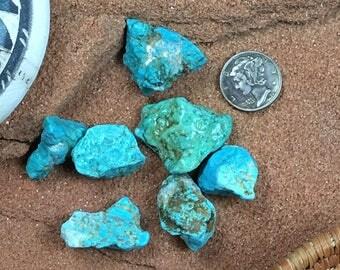 28.47 Carats Turquoise Nugget NATURAL Hard Cripple Creek Colorado #4291