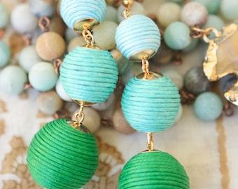 Bailey Bauble Earrings in Palm