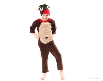 Rudolf the Red-Nosed Reindeer costume for Kids