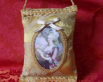 "Door cushion portrait ""Marie-Antoinette"" gold plated"