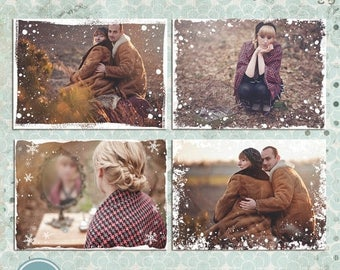 ON SALE NOW Winter, Snow, Photo Overlays - Photoshop Template - Instant Download