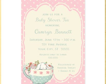 Somebunny Tea Baby Shower Invitation