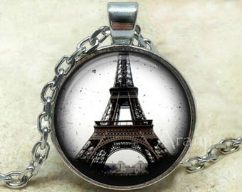 Eiffel tower necklace, Eiffel tower pendant, Eiffel tower jewelry, Paris necklace, Paris pendant, Paris, Pendant #SP174