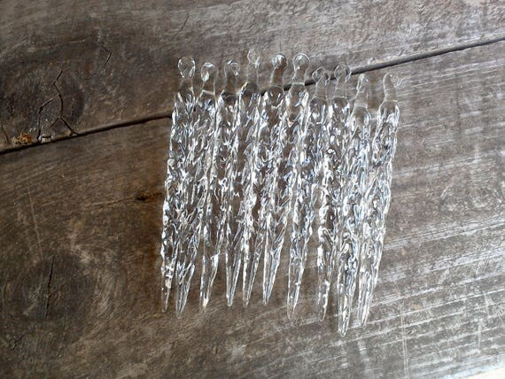 Vintage Glass Icicles Set of 10 Christmas Tree Decor, Window Decor, Holiday Decor