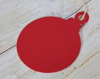 ORNAMENT Die Cut, Christmas Ornament, Paper Tag, Gift Tag, Blank Tags, Christmas Craft, Christmas Gift Tag