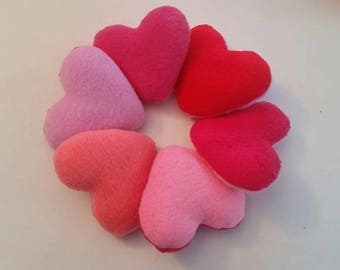 Catnip Hearts, Valentines cat toys, Valentine's day cat, organic catnip cat toys, valentine hearts