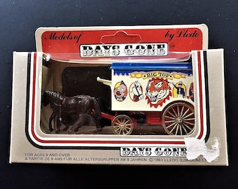 Lledo Days Gone Vintage Diecast Metal Horse Drawn Delivery Wagon for Big Top Circus - New In Box Made in England 1983