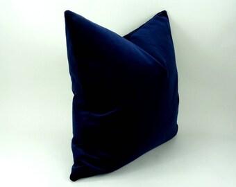 midnight blue velvet pillow // midnight blue cushion // dark blue velvet cushion // dark navy velvet pillow
