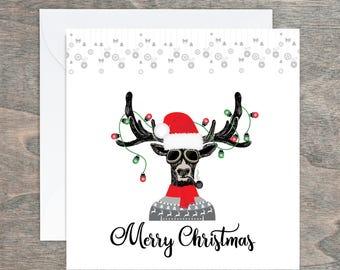 Steampunk Art Cards, Steampunk Christmas Cards, Steampunk Skull, Personalised, Christmas Cards, Hipster Stag, Steampunk Tree, Steampunk
