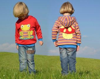 Kids hoodie,toddler hoodie,baby boy hoodie,baby girl hoodie,striped hoodie,baby boy sweater,boy toddler hoodie,reversible frog sweater