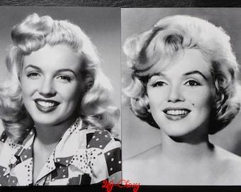"Postcard style retro vintage women pinup marilyn ""pattern 6"" x 1"
