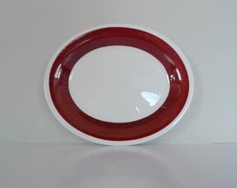 Gefle Malin Serving Plate - Upsala Ekeby Swedish Oval Plate Scandinavian vintage