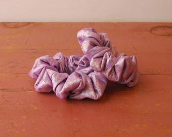 Metallic Lavender Scrunchie