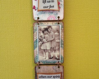 Friends are angels...- Triptych Wall Adornment