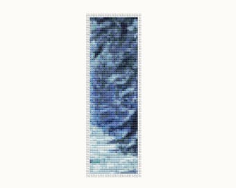 Bookmark Cross Stitch Kit Blue Winter, Winter Cross Stitch, Embroidery Kit, Needlework DIY Kit (BK37)