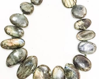 SALE Huge Labradorite Stone Necklace