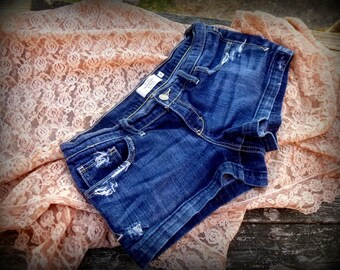 Shorts, Upcycled,  Jeans, Shabby Chic,  Country, Accessories, Distressed