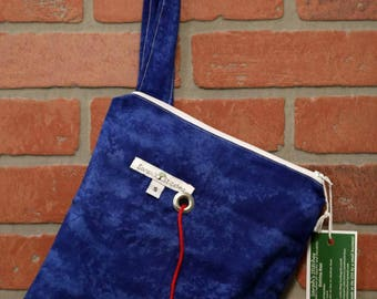 Knitting Bag, Crochet, Knit, Yarn, Wool, Blue, Yarn Storage, Yarn Bag with Hole, Grommet, Handle, SYB111