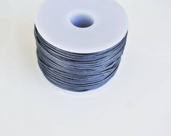 5 m cotton waxed blue 0.5 mm