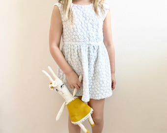 Bunny Doll - Rabbit Plush - Blush Pink Heirloom Bunny doll - Bunny Baby Girl Boho Nursery Decor - bunny Gift - Boho Baby Decor