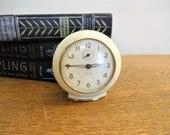 Vintage Alarm Clock - Westclox Baby Ben -  Style 6 -  Cream and Gold - Non Luminous Dial - Excellent Condition - Mid Century Decor
