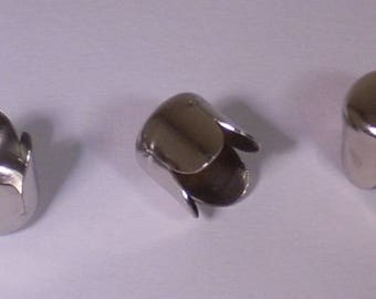 20 bead caps or Cup Tulip silver plated 6mm