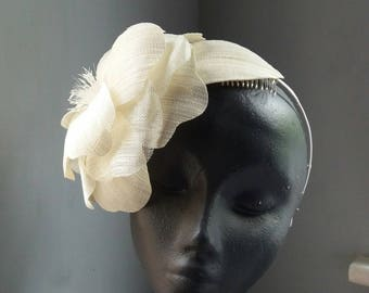 Ivory Flower Headpiece