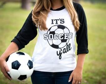 Soccer Shirt - Soccer Mom Shirt - Soccer - Soccer Gift - Spirit Shirt - Team Jersey - School Spirit Shirt - Game Day Shirt - Its Soccer Yall
