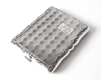 Polish 800 Silver Cigarette Case Monogrammed AL