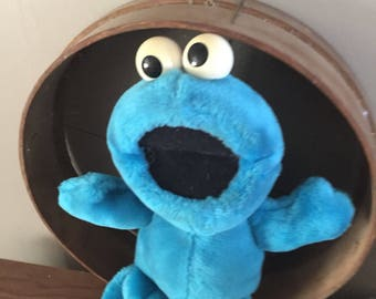 Cookie Monster, Stuffed Animal, Vintage, Sesame Street, Plushie, Retro, Toy, Antique Discoveries
