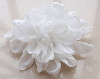 Larger Handmade Singed Flower  (3.5 inches) In Off White MY-660-01 Ready To Ship