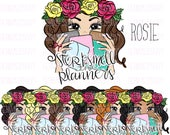 Rosie || Stop & Smell The Planners | | hernameisSavvy | Mystics Little Gifts Collab | Planner Stickers | Die Cuts | PNG | Download