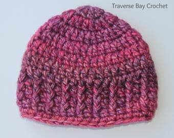 18 colors! Crochet baby hat beanie textured shower gift present
