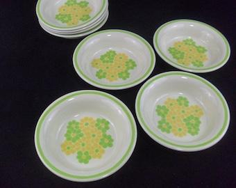 Vintage Franciscan Earthenware Picnic Coupe Cereal Bowls Set of 4