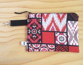 Dog Show Lead Pocket Zip Pouch with Clip