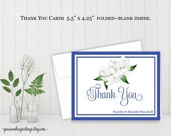 Personalized Thank You Notes, Thank You Notes, Thank You Cards, Stationery Cards, Bridal, Vow Renewal, Digital, Printable TY615
