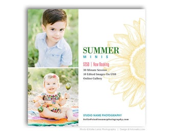 Summer Mini Photo Session Marketing Card - Digital Marketing Card - SUMMER BREEZE 2 - 1661