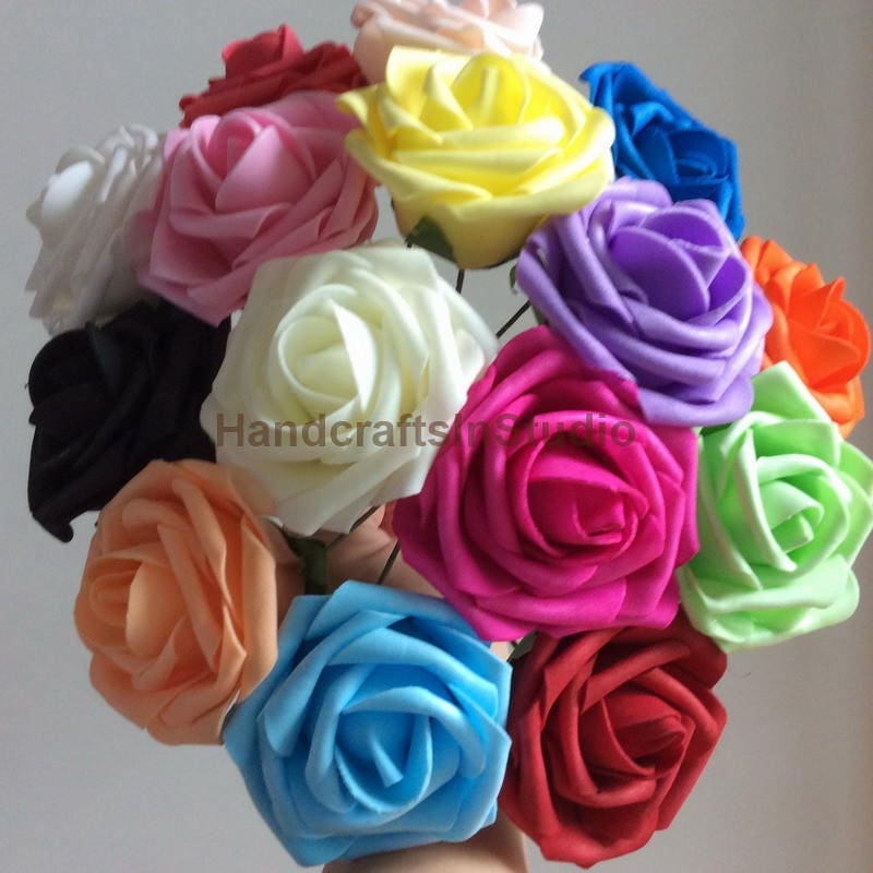 Artificial foam rose real touch flowers for wedding bridal