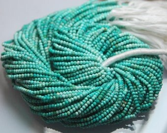 13 Inches Strand,Natural ARIZONA TURQUOISE Faceted Rondelles,Size 2.60mm
