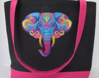 Vibrant Elephant ToteBag