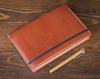 Leuchtturm 1917 Medium (A5) Hardcover Notebook cover - chestnut bridle leather