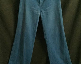 Vintage 1970's Dittos High Waisted Blue Bell Bottoms
