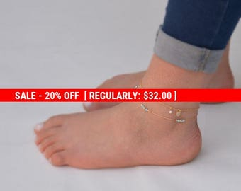 SALE 20% OFF Opal Anklet,Ankle bracelet,Opal Jewelry,Gold Anklet,Beach Anklet,Dainty Anklet,Gift for Her-21243