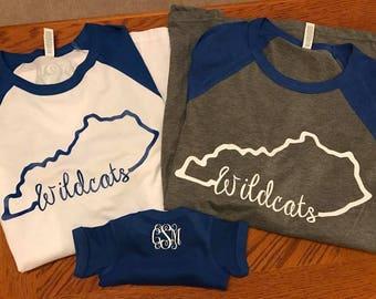 Kentucky Shirt/ Kentucky Wildcats Shirt/ Kentucky Wildcats Baseball Tee