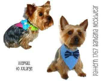 Dog Bandana Pattern 1767 * XXSmall to XXLarge * Dog Clothes Pattern * Dog Wedding Bandana * Pet Apparel * Dog Attire * Designer Dog Clothes
