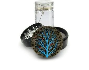 Gay lesbian symbol UV print on the Grinder FREE Glass included! 4 Piece Herb Aluminum Black cnc Grinder 0289 B