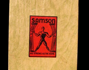 Vintage Samson Black Calf Skin Leather Wallet in Original Box United Brotherhood of Carpenters and Joiners of America Local Union 72