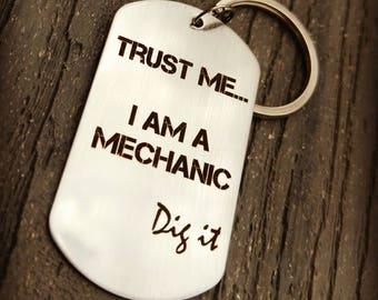Mechanic Keychain - Mechanic Gift - Mechanics - Body Shop Keychain - Auto Shop Keychain - Racing Mechanic Gift - Personalized Keychain