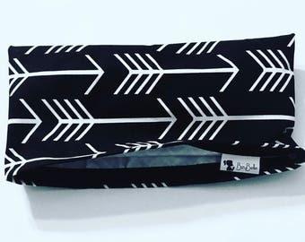 BLACK ARROW BAG • Waterproof Snack Bags • Eco-Friendly Reusable Bag • Make-Up Bag • Gift • Wipes Case • Baby Shower Gift • BizyBelle